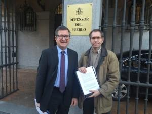 Roberto Serrano - presidente Adabankia - con Fernando Zunzunegui - asesor juridico