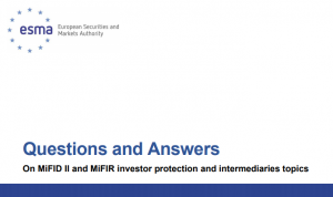 Captura 1 300x178 ESMA Q&A sobre protección del inversor con MiFID II/MiFIR