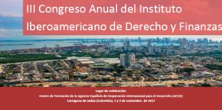el III Congreso Anual del Instituto Iberoamericano de Derecho y Finanzas