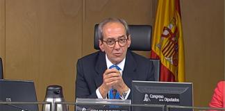 Captura de la intervención de González-Páramo emitida en Congreso TV