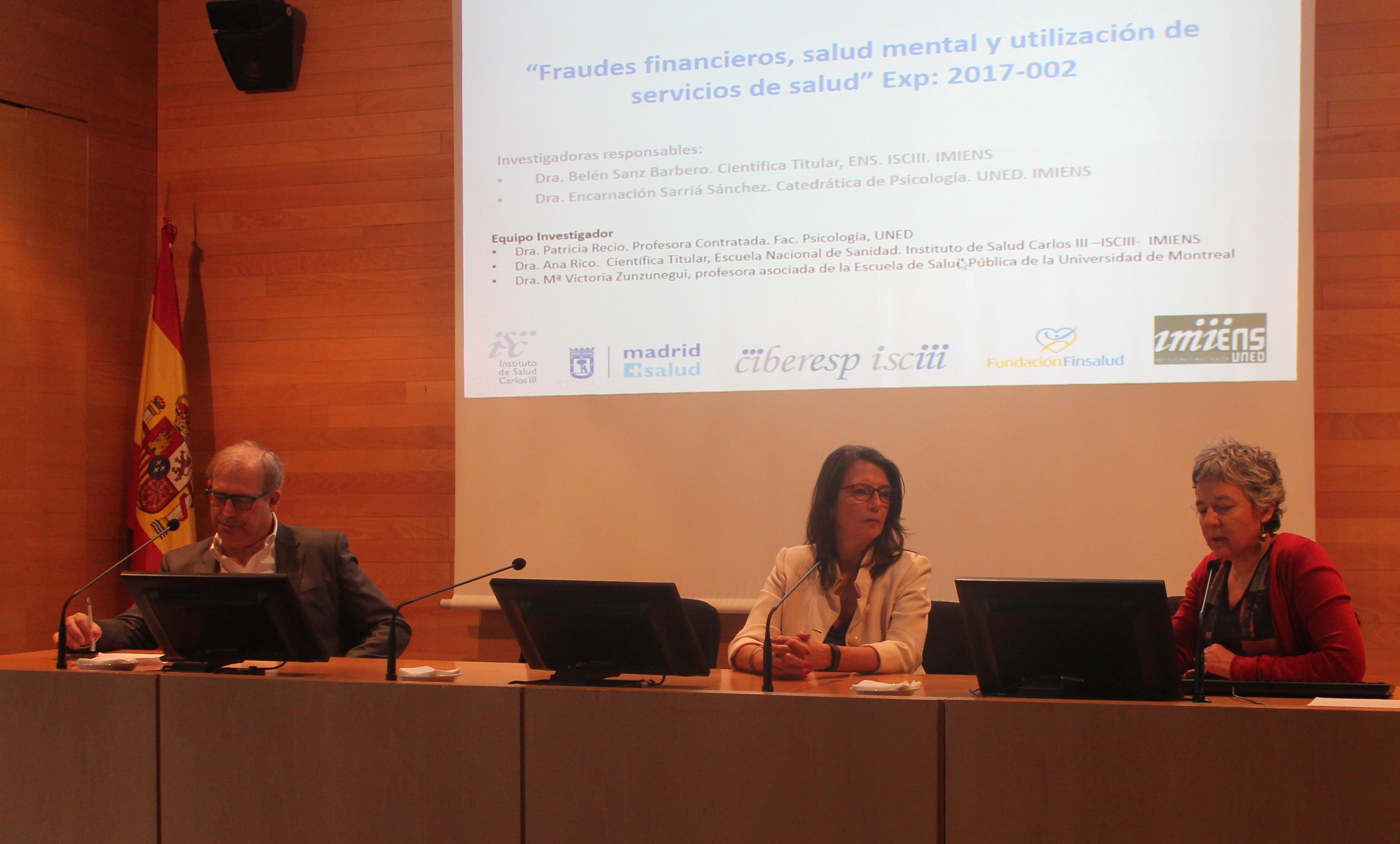 Antonio Sarría Encarnación Sarriá y Belén Sanz El Instituto Mixto de Investigación ENS   UNED estudia el fraude financiero en la salud de la población de Madrid