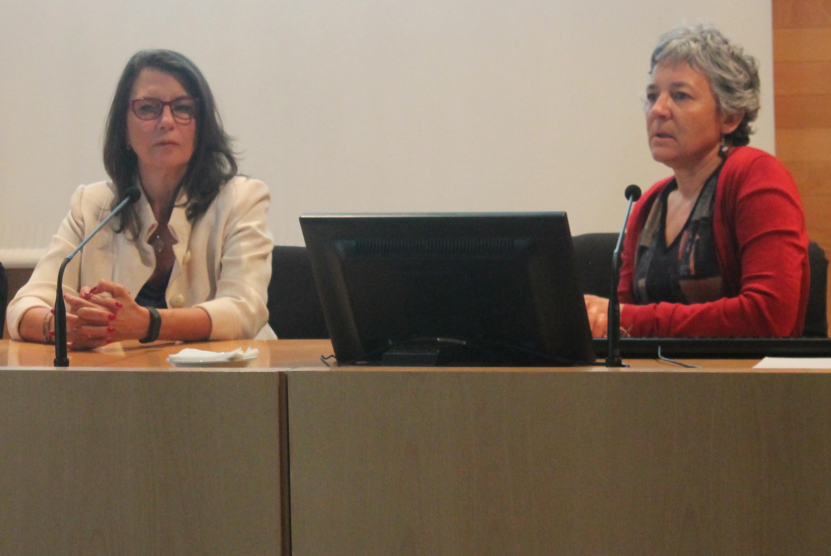 Encarnación Sarriá y Belén Sanz ok El Instituto Mixto de Investigación ENS   UNED estudia el fraude financiero en la salud de la población de Madrid