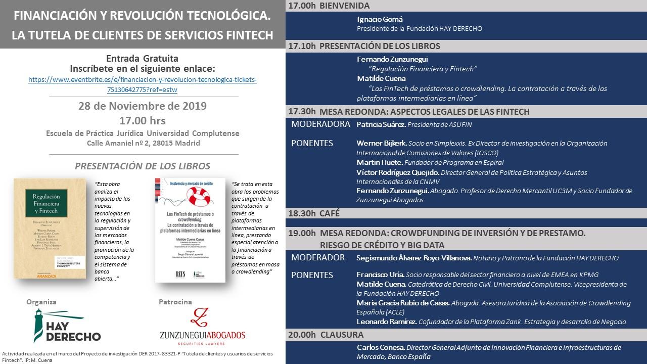 Programa 28 Nov rdmf Financiación y revolución tecnológica a debate: ¿Cómo regular Fintech?