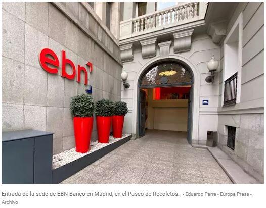 Zunzunegui Europa Press EBN Banco tendrá que devolver 2,54 millones a un colegio por la colocación indebida de un swap