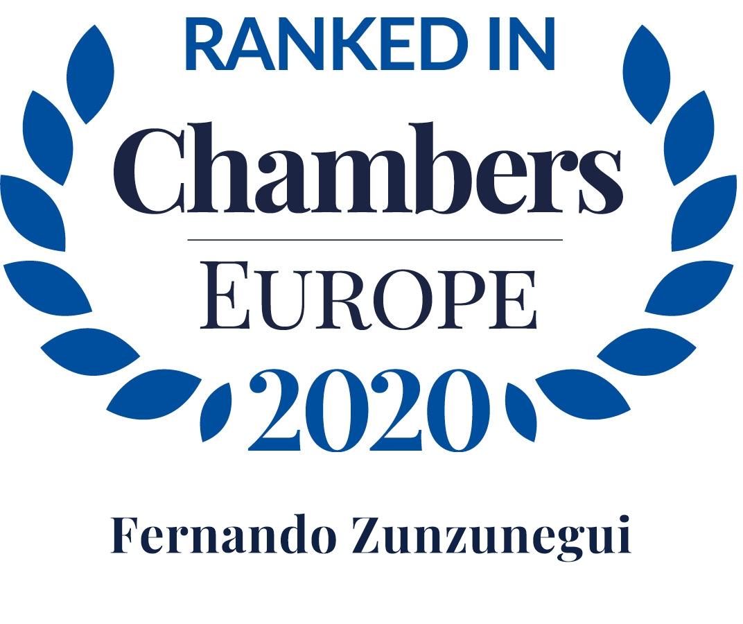 Chambers Europe 2020 Zunzunegui Director