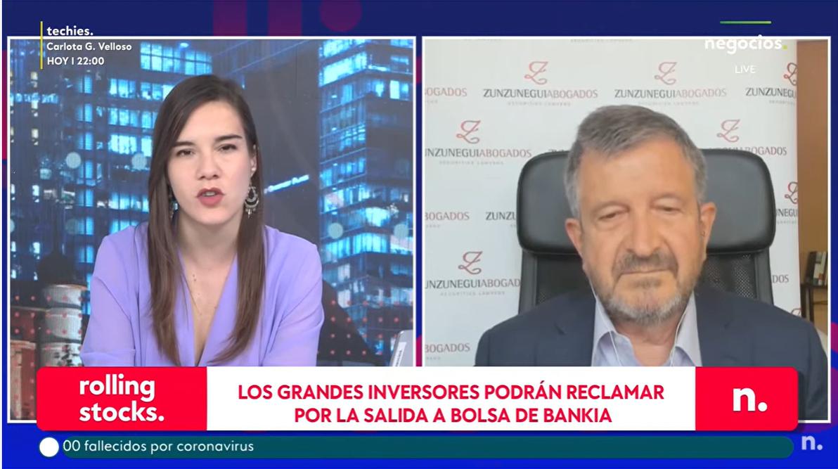 """entrevista FZ en negocio tv Salida a Bolsa de Bankia: """"El folleto lo es para todos"""""""